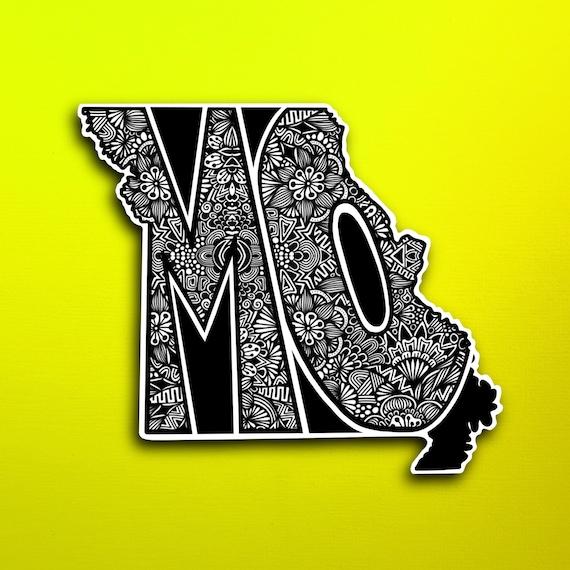 State Missouri Sticker (WATERPROOF)