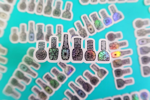 Mini Holo Nail Polish Sticker (WATERPROOF)