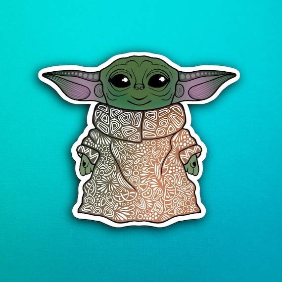Baby Yoda  Sticker (WATERPROOF)