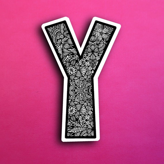 Small Block Letter Y Sticker (WATERPROOF)