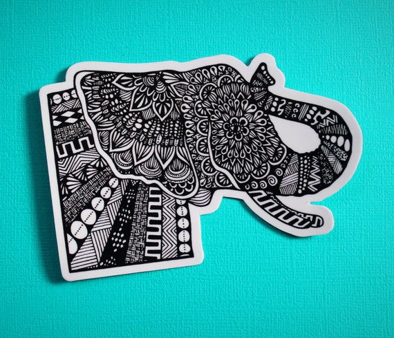 Side Elephant Sticker (WATERPROOF)