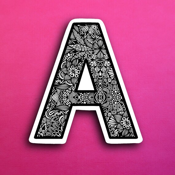 Small Block Letter A Sticker (WATERPROOF)