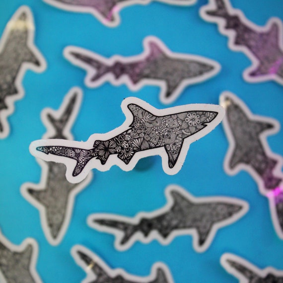 Mini Shark Sticker (WATERPROOF)