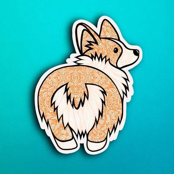 Corgi Bum Sticker (WATERPROOF)
