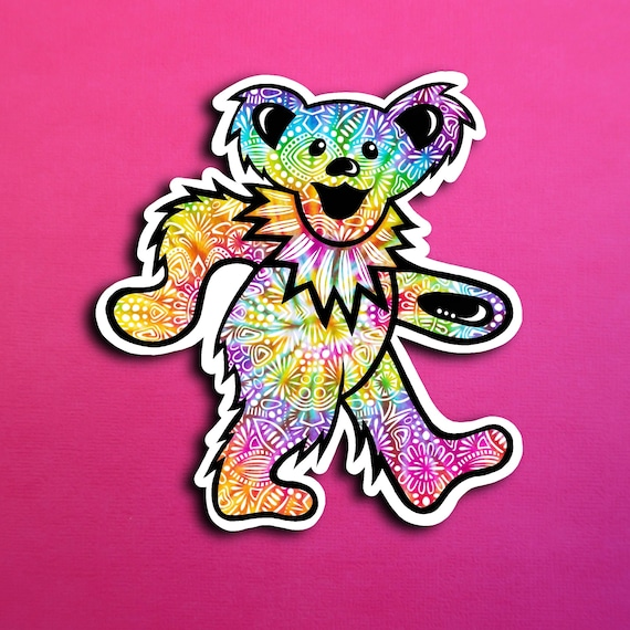 Trippy Bear Sticker (WATERPROOF)