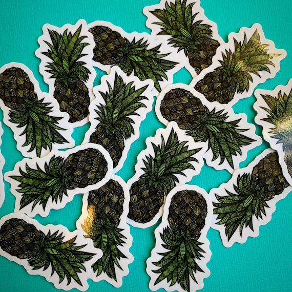 Mini Pineapple Sticker (WATERPROOF)