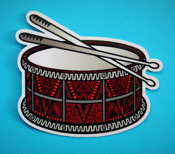 Snare Drum Sticker (WATERPROOF)