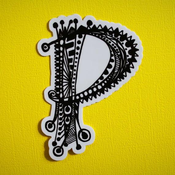 Letter P Sticker (WATERPROOF)