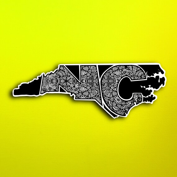 State North Carolina Sticker (WATERPROOF)