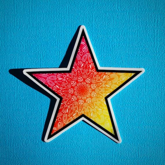 Colored Star Sticker (WATERPROOF)