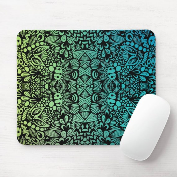 Teal Zen Mouse Pad