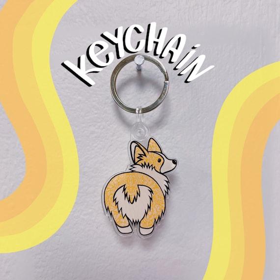 Corgi Bum Acrylic Keychain