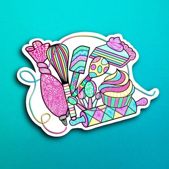 Baker Collage Sticker (WATERPROOF)
