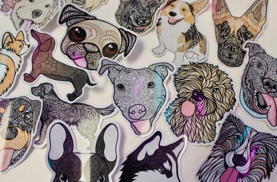 Dog Themed Mystery Pack (5 waterproof stickers)