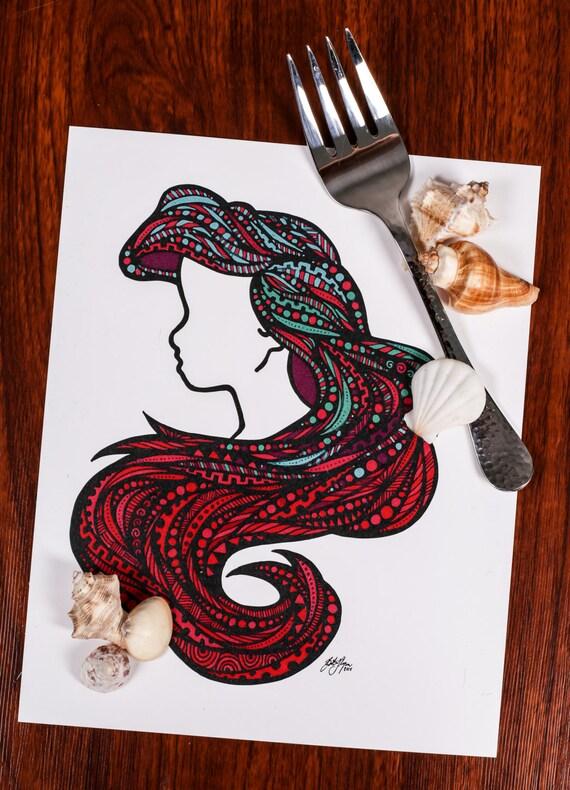 Sea Hair Print