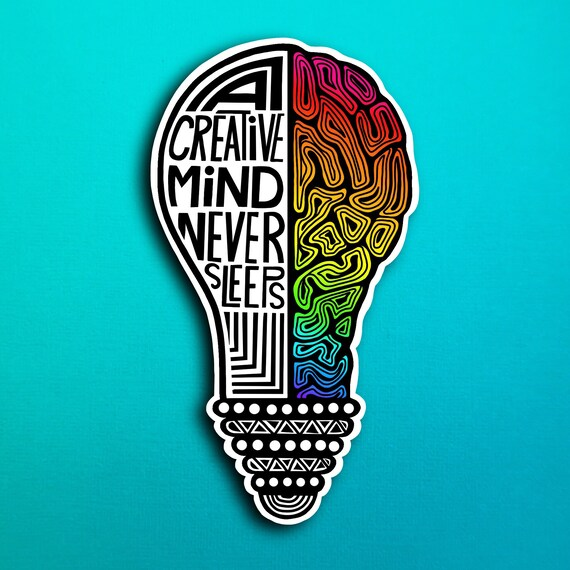 Creative Mind Sticker (WATERPROOF)