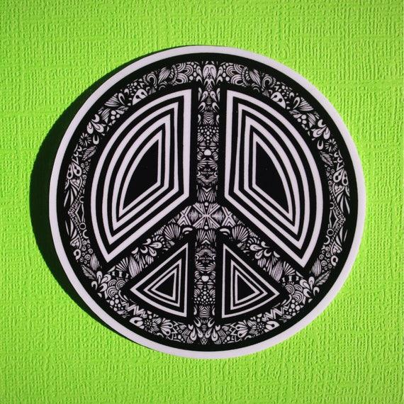 Peace Sign Sticker (WATERPROOF)
