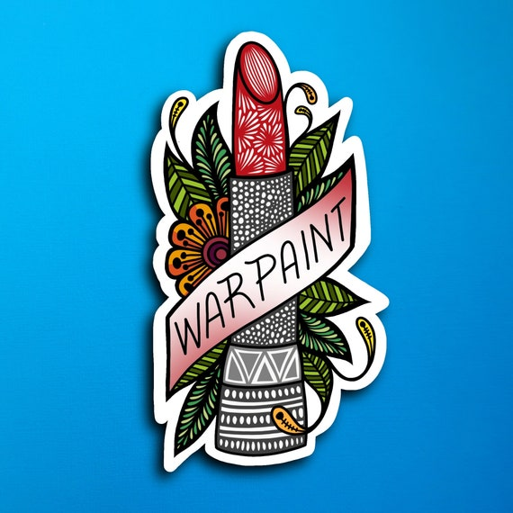 War Paint Sticker (WATERPROOF)