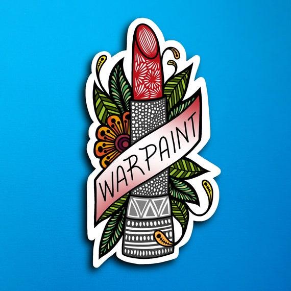 War Paint Sticker (WATERPROOF)