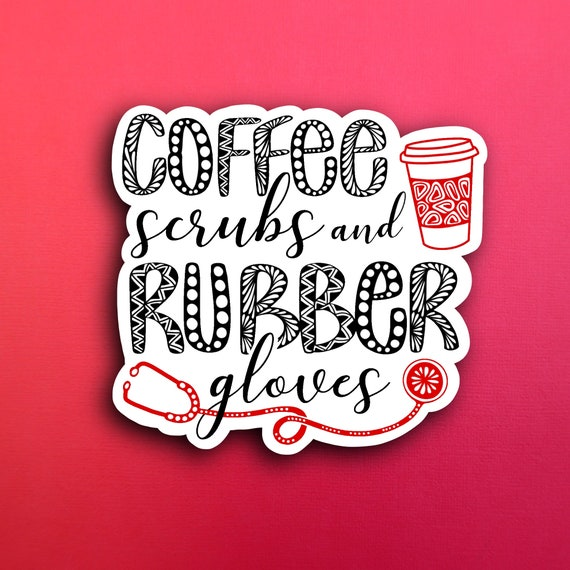 Coffee & Scrubs Sticker (WATERPROOF)
