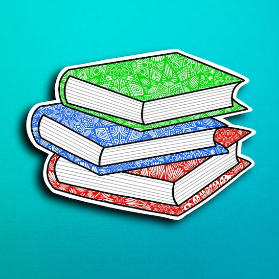 Stack of Books Sticker (WATERPROOF)