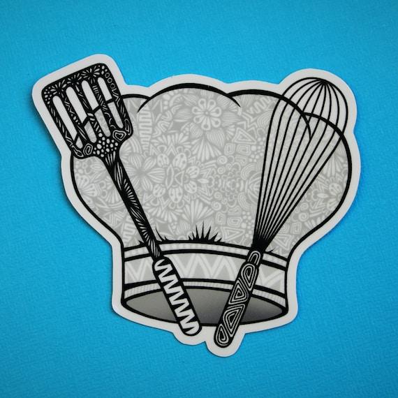 Chef Hat Sticker (WATERPROOF)