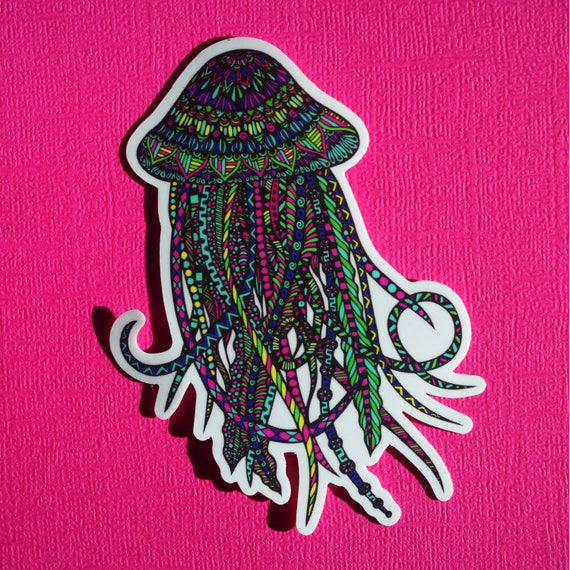 Jellyfish Sticker (WATERPROOF)