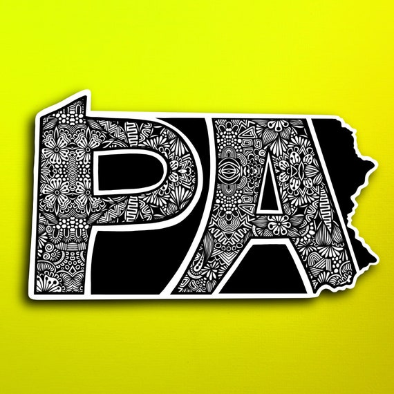 Pennsylvania Sticker (WATERPROOF)