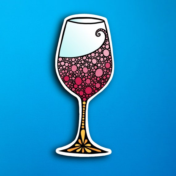 Wine Glass Sticker (WATERPROOF)