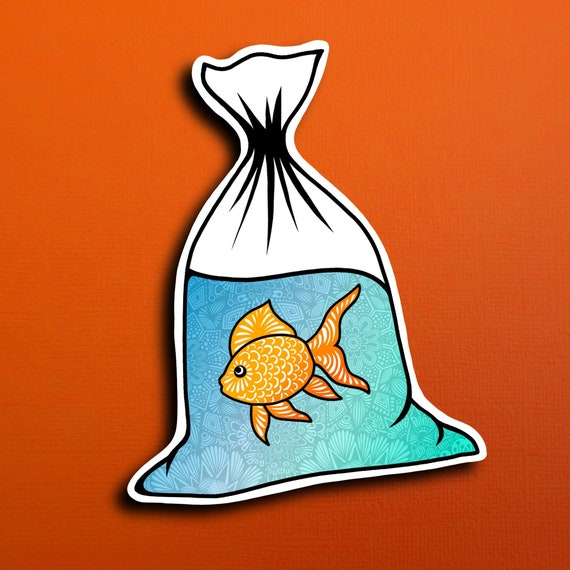 Goldfish Sticker (WATERPROOF)