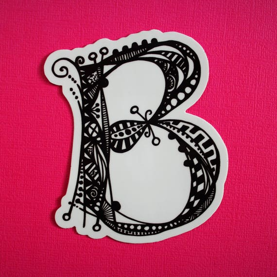 Letter B Sticker (WATERPROOF)