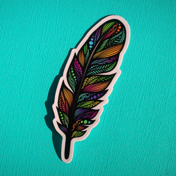 Feather Sticker (WATERPROOF)