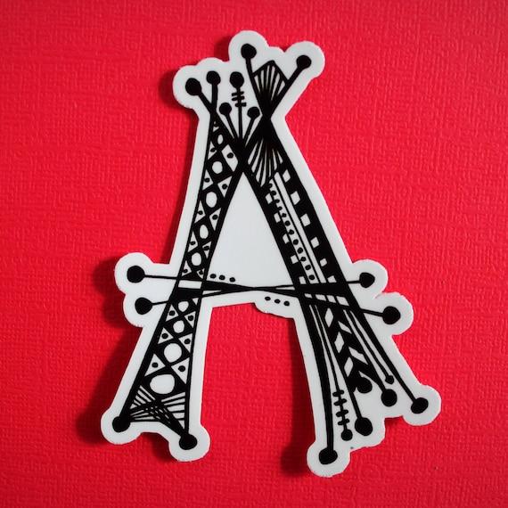 Letter A Sticker (WATERPROOF)