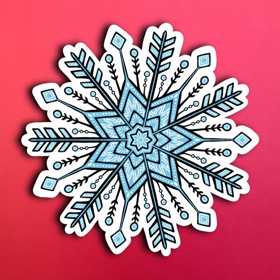 Snowflake  Sticker (WATERPROOF)