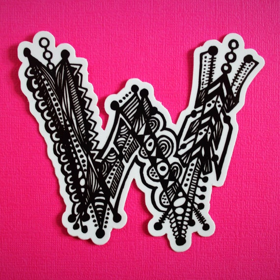 Letter W Sticker (WATERPROOF)