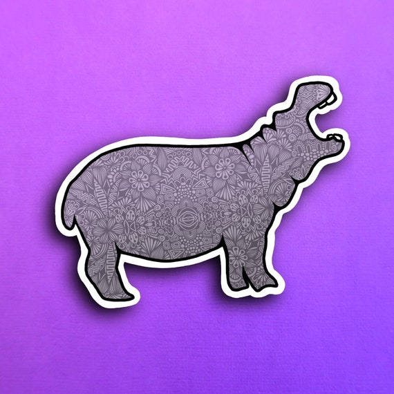 Hippo Sticker (WATERPROOF)