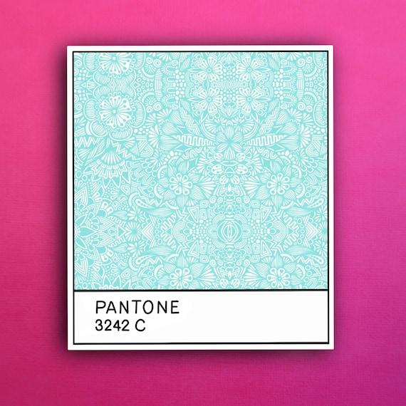 Pantone Aqua Sticker (WATERPROOF)
