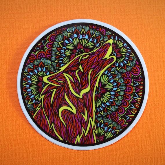 Neon Wolf Sticker (WATERPROOF)