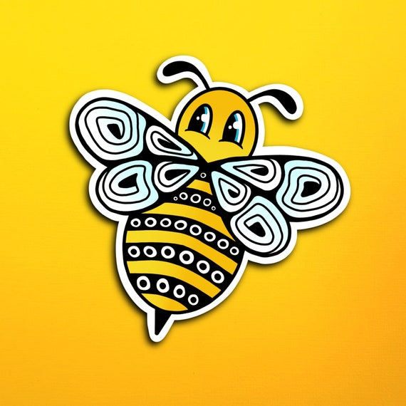 Brita the Bee Sticker (WATERPROOF)