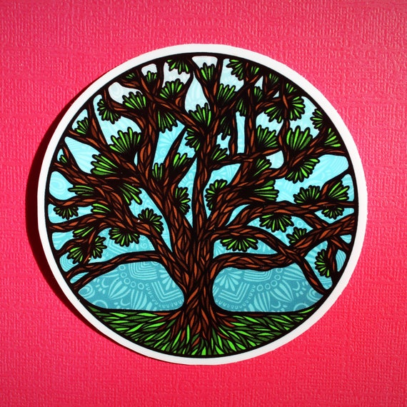 Circle Tree Sticker (WATERPROOF)