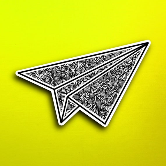 Paper Plane Sticker (WATERPROOF)