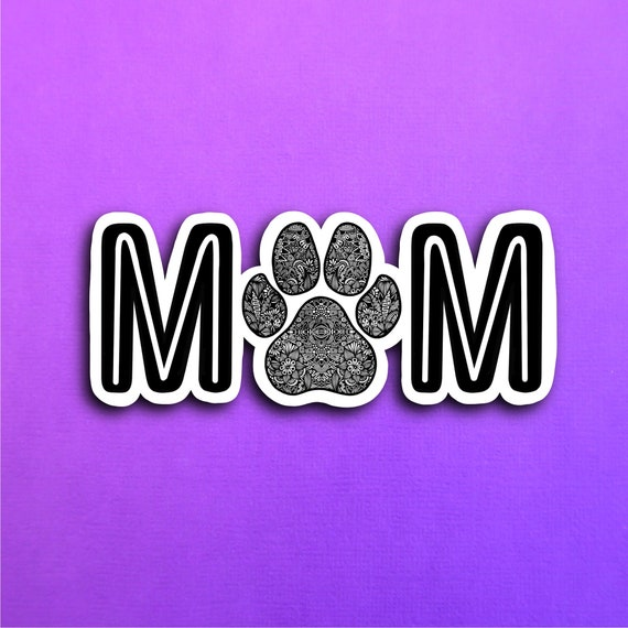 Dog Mom Sticker (WATERPROOF)