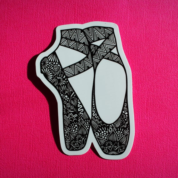 Pointe Shoes Sticker (WATERPROOF)