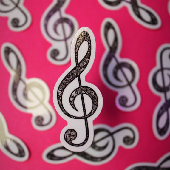 Mini Music Note Sticker (WATERPROOF)
