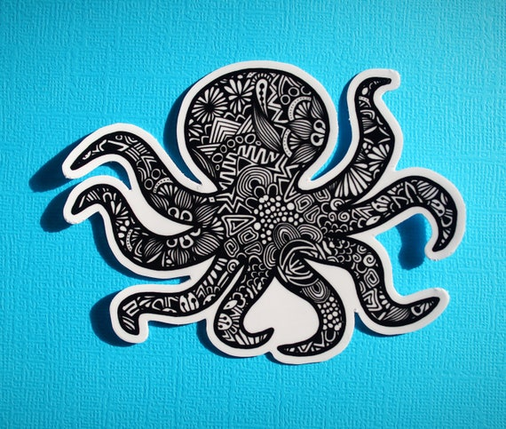 Octopus Sticker (WATERPROOF)