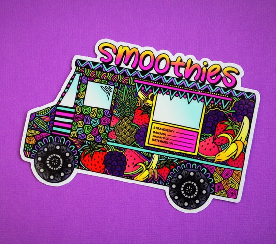 Smoothie Truck Sticker (WATERPROOF)