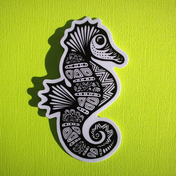 Sea Horse Sticker (WATERPROOF)
