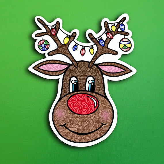 Reindeer Sticker (WATERPROOF)
