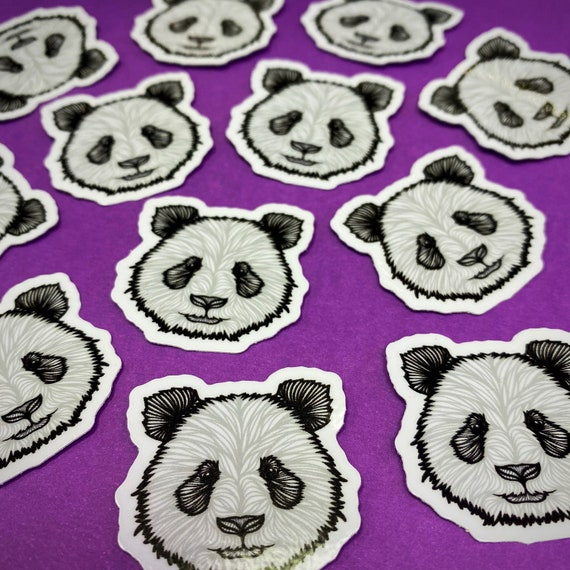 Mini Panda Sticker (WATERPROOF)