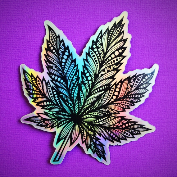 Holographic Pot Sticker (WATERPROOF)